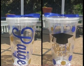 Personalized Graduation tumbler makes a great Graduation grad high school college graduation gift