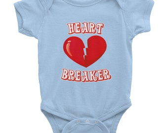 Heart breaker Baby clothes bodysuit creeper Playtime Hipster infant girl boy Valentines new baby shower gift present 0127