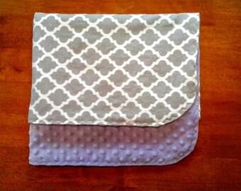 Baby Girl Bedding, Baby Girl Gift, Morocco Bedding, Baby Girl Blanket, Purple Minky Baby Blanket, Purple Crib Bedding, Minky Crib Blanket