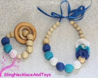 Nursing jewelry teething jewelry teether teething necklace nursing necklace teething breastfeeding babywearing teething toy baby jewelry