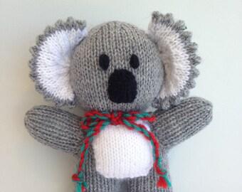 Knitted koala. Australian made gift. Knitted animal. Handmade toy.