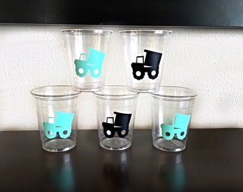 Construction Party Cups - Hard Hat Party - Construction Zone Birthday - Dump Truck Cup - Steam Shovel - Under Construction Theme Birthday