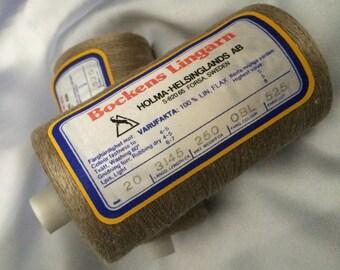 20/1 Bockens Lingarn Swedish Yarn; 100% Natural Linen, bockens lingarn linen
