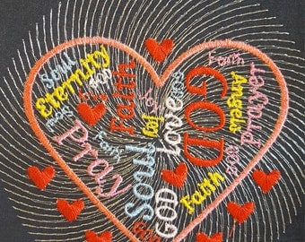 Faith Emboidery design / Religious embroidery design / Machine embroidery design/ Christian