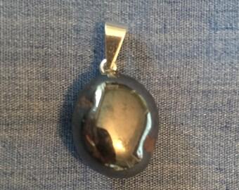 Hematite Pendant - Tumbled Hematite - Root chakra - Hematite Jewelry