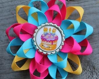 Shopkins hair bow, shopkins bow, Shopkins inspired bow, girls hair bow, wishes shopkins, shopkins fabric bow, girls hair bow, hair bow
