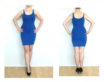 Blue dress, tight dress, S Twilight blue