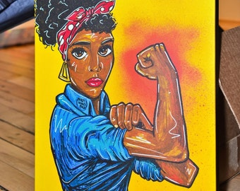 Black Rosie the Riveter - Canvas