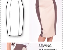 popular items for pencil skirt pattern on etsy