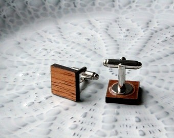 Mahogany Square Cufflinks
