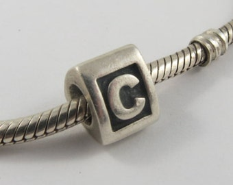 Alpha C Sterling Silver Screw Core Pandora Charm