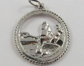 Siwash Rock Vancouver Sterling Silver Vintage Charm For Bracelet
