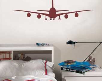 Airplane Shape Jet Wall Decal