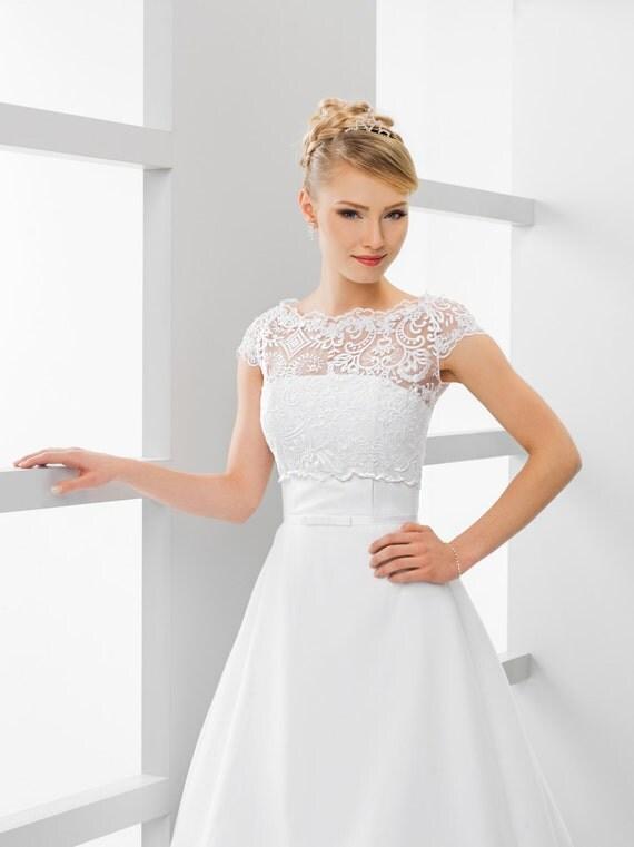 bridal lace top bridal lace bolero wedding top bridal crop. Black Bedroom Furniture Sets. Home Design Ideas