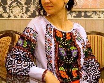 Ukrainian embroidery, beads embroidery, national embroidery, women blouse, embroidered blouse, beadwork, beaded