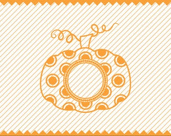 NEW! Pumpkin Svg Polka Dot with rings for Monogram, Pumpkin Monogram svg, Pumpkin Stem SVG, Fall Monogram SVG, Pumpkin Svg, Cricut