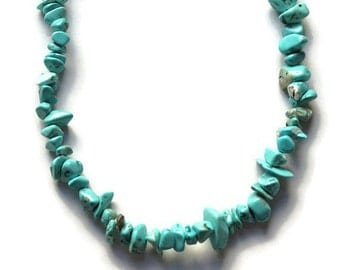 Vintage Turquoise Beaded Necklace