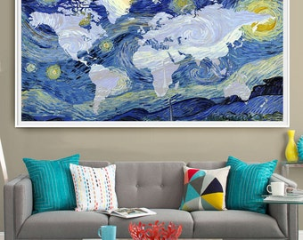 Lord Of The Rings Starry Night Print Wall Art Decor Lord Of