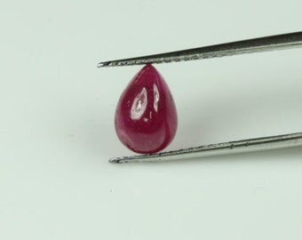 Ruby pear shaped cabochon,tcw-2.05ct