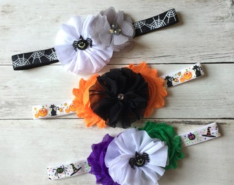 Halloween Baby Headbands, Baby Girl Headbands, headbands for Halloween,  Baby Headbands, Newborn Headbands, Headbands for Girls