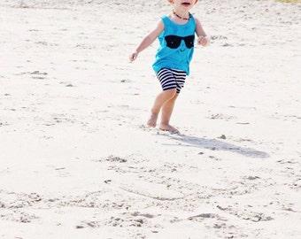 Toddler Summer, toddler tank top, trendy baby boy, summer tanks, funny kids shirts, kawaii clothing, kawaii shirt , NEON BLUE