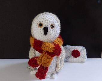 snowy owl **crochet pattern only**