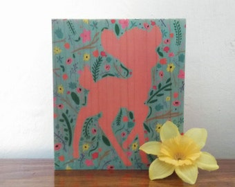 Pastel Bambi - Handmade Wooden Sign