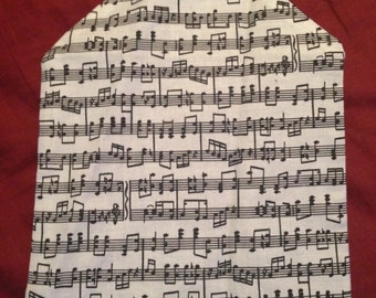 Musical note cloth and velcro CD holder
