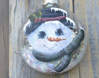 Hand Painted Snowman Christmas Ornament