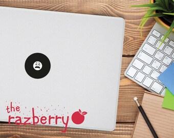 Moan face emoticon Emoji Macbook Decal Emoticon Macbook Decal Macbook Decal Whatsapp Macbook Decal iPhone Macbook Decal Vinyl Emoticon