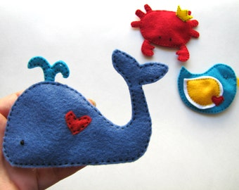 Love Whale Handmade Crinkle Baby Toy