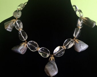 Fire and Ice, necklace set