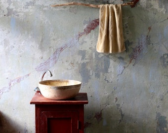 Vanilla Ceramic Bathroom Vessel Sink