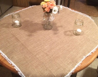 Burlap Runner with Lace