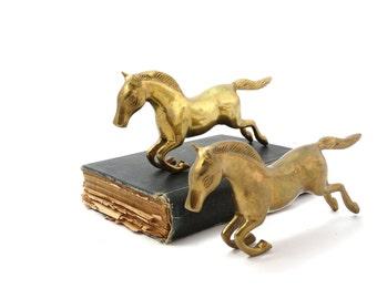 Horse figurine - Brass horse - Horse bookend - Horses statue - Collectible horse - Brass horse figurine - Gift for horse lover - Horse decor