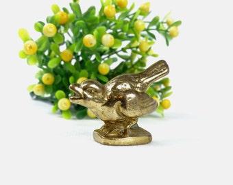 Vintage Brass Bird Figurine - Brass Figurine - Brass Pigeon - Pigeon Figurine - Bird Paperweight - Collectible Bird - Brass Desk Decor