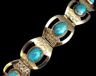 Taxco Turquoise Bracelet