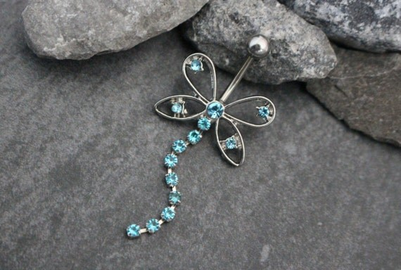 unique belly chain belly button rings silver by mybodiart