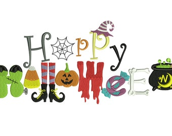 Trick or Treat Halloween Embroidery Design Download Stitch Design - 0170
