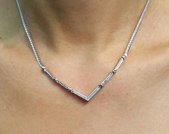 Sterling Silver 18k gold plated, 0.13ct Diamond Necklace ,16in