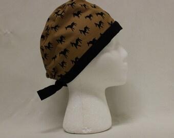Black and Brown llamas Print Surgical Scrub Cap Dentist Chemo Hat