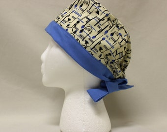 New York City Street Lamps Surgical Scrub Cap Chemo NYC Signs Dental Hat