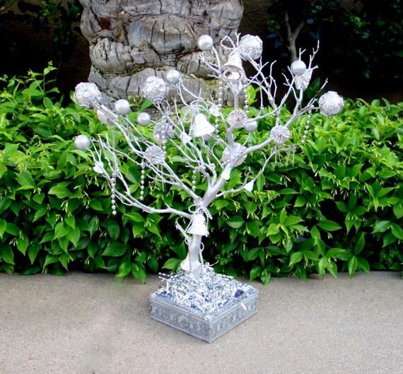 26 Inches Silver Manzanita Tree Wedding Centerpiece By MazuriYako