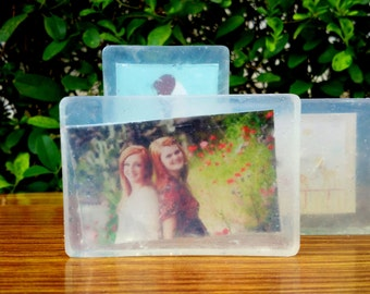 3.2 Oz Personalized Photo Soap- Bridesmaid gift, Baby Shower favor, Wedding gift, Wedding Shower Favor, Custom Soap, Birthday Gift