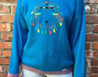 90s Colmar Wool Sweater // Vintage Italian Wool Sweater // Size M