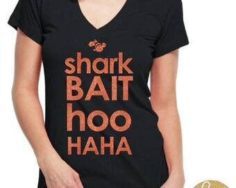 Shark Bait Hoo Haha  - Finding Nemo Disney Glitter Shirt