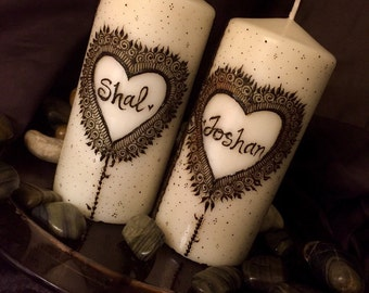 Couple Henna Candle Set (2)
