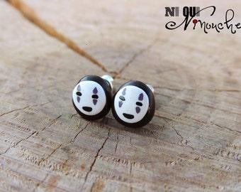 No. Face Spirited away (fimo) Kaonashi - geek manga giblhi miyazaki spirited away Stud studs earrings