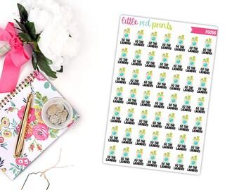 Laundry Planner Stickers for the Erin Condren Life Planner, Do the Laundry Sticker, Laundry Planner Sticker - [P0056]