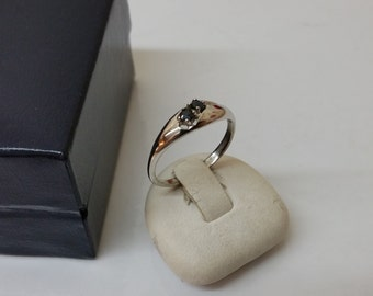 50s-835 silver ring with Sapphire noble SR750